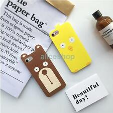 New 3D Korean Funny Chicken Bear Smooth Soft Case Cover for iPhone 7 7 Plus 6 6S