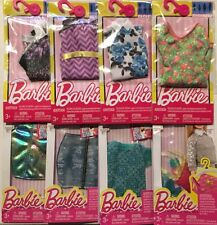 New Mattel Barbie Doll Clothing & Accessories Lot of 8 Different Packs *Mint*