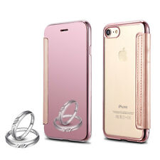 Luxury Thin Mirror View Clear Soft back Flip Case Cover For iPhone 6 6s Plus 7