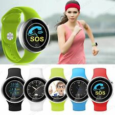 Waterproof Bluetooth Smart Watch Heart Rate Phone Mate Sim For Android iPhone