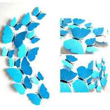 12pcs  clothes curtain closet decoration pure Butterfly wall Sticker safety-pin