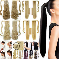 New Natural Long Layered Ombre Hair Wrap Clip In Hair Extension Hairpiece US h10