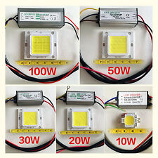 High Power LED 10W 20W 30W 50W 100W Waterproof Driver Supply LED SMD Chip Bulb
