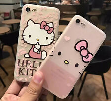 Hello Kitty Cartoon Cat Soft Silicon Case Cover For iPhone 6/6S Plus 7 Plus