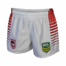 St George Illawarra Dragons 2017 NRL Kids Supporter Shorts BNWT Rugby League