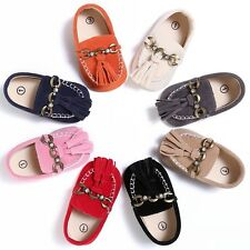 Newborn Baby Soft Sole Suede Shoes Infant Girl Boy Toddler Moccasin Anti-Slip