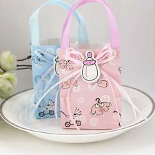 12 Cute Girl Boy Baby Shower Gift Bags with Handle 1st Birthday Party Favor