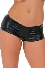 WOMEN'S JUNIORS SEXY METALLIC SHORT PANTS HIPSTER DANCE CLUB BOOTY SHORTS S-XL