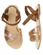 NWT Gymboree Fruit Punch Girls Gold Sandals 10,11,12,13,1,2,3