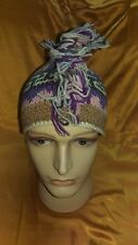 Hand Knitted Mohawk 100% Woolen Hat with Fleece Lining Adult ~ Made In Nepal