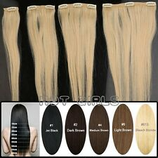 "Thick Selling 160g+ Clip In Remy Human Hair Extensions Double Weft 22"" UK LD325"