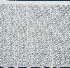 PAISLEY ALL OVER STRAIGHT DESIGN WHITE  NET CURTAIN  PER METRE LOUNGE BEDROOMS