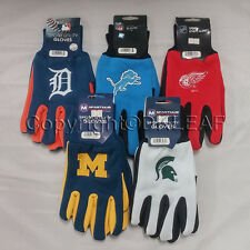 MLB, NFL, NHL, NCAA Michigan Detroit Sport Utility Two-Tone Gloves