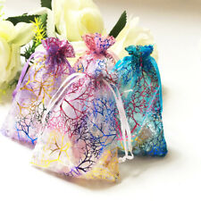 3x5 4x6 inch Coralline Organza Wedding Party Favor Candy Gift Bags Jewelry Pouch