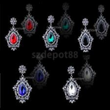 Elegant Women Wedding Bridal Crystal Rhinestone Drop Dangle Earrings Ear Studs