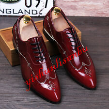Punk Mens Pointy Toe Patent Leather Low Pumps Formal Dress Shoes Oxfords Fashion