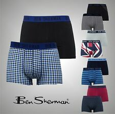2 Pack Mens Branded Ben Sherman Boxer Shorts Trunks Underwear Size S M L XL
