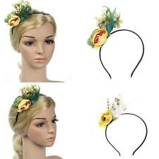 Vintage Feather Flapper Headband Fascinator Flower Feather Hairband Headpieces