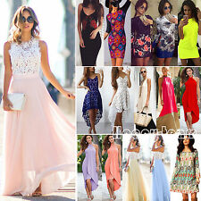 Multi Styles Women Summer Fancy Party Prom Evening Short Mini Dress / Long Dress