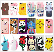Multi Pattern Animal Flower Dog Soft Silicone Rubber Case Cover Back For iPhone