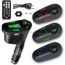 Car Kit MP3 Player Wireless FM Transmitter Modulator USB SD MMC LCD RemoteRGBCB