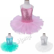 Girl Kid Gymnastics Ballet Dance Dress Leotard Tutu Skirt Dancewear Costume 3-14