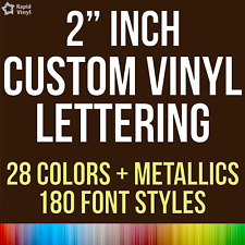 """2"""" Custom Vinyl Lettering Text Name Decal Car Sticker Personalized Wall Window"""