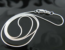 """.925 Sterling Silver 20"""" 1.00mm Snake Chain Necklace !!"""