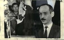 1971 Press Photo Col. Hugo Banzer takes oath of office as president of Bolivia.