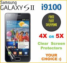 4x or 5x Samsung Galaxy S2 S II i9100 Clear Screen Protector FREE Fast Shipping