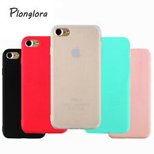 Candy Color Rubber Silicon Phone Case Soft TPU Lovely Cover For iPhone 7/7 Plus