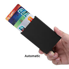 Black Men Wallet Aluminum Slim ID Credit Card RFID Protector Holder Purse Case