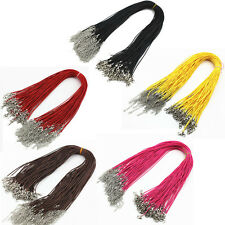 "10pcs 18"" Necklace Leather Cord Chain Findings String Rope with Lobster Clasp"