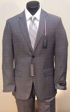 Tommy Hilfiger Now $199.99 Was $400 Grey Plaid 2B Stretch Performance Suit