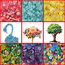 600pcs/lot Mix size DIY 4 Holes Round Resin Buttons Scrapbooking Sewing Craft