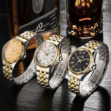 New Automatic Watch Date Sport Stainless Steel Band Men's Mechanical Wrist Watch