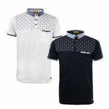 Mens Polo Shirt by Designer Brave Soul Collared Summer Short Sleeve Top S-XL