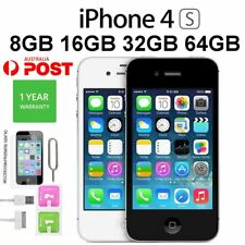 "Apple iPhone 4S 8GB 16GB 32GB 64GB GSM ""Factory Unlocked"" Smartphone Mobile AU"