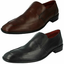 SALE MENS MAVERICK SLIP ON LEATHER ROUND TOE FORMAL OFFICE WORK SHOES A1069