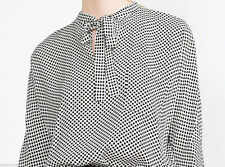 ZARA LOOSE RELAXED FIT POLKA DOT SPOT PRINT SHIRT BLOUSE TOP WITH BOW TIE SCARF