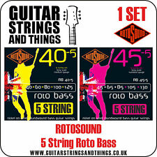 Rotosound ROTO BASS 5 STRING Electric Bass Guitar Strings - ALL GAUGES
