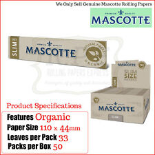 Mascotte Organic Hemp Kingsize Slim Rolling Papers - Multi Listings & Full Box