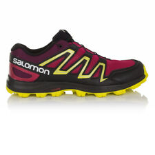 Salomon Speedtrak Womens Pink Black Water Resistant Running Shoes Trainers