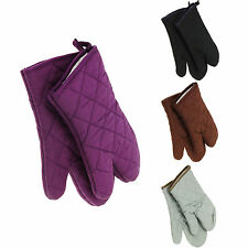 1pcs Cotton Thick Double Kitchen Baking Cook Insulated Padded Oven Glove Mitt A2