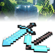 Minecraft Large Diamond Blue Sword Pickaxe Plush Doll Soft Toy Mosaic EVA Blue