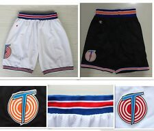 Space Jam Tune Squad Basketball Shorts White Black Jordan Murray Bugs Taz S-XXL