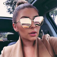 2017 Sunglasses Women Men Mirror Retro Frame Lens Aviator Glasses Metal Vintage