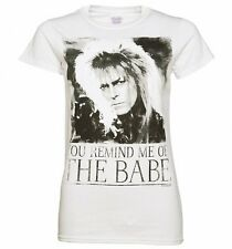 Official Women's White You Remind Me Of The Babe Bowie Labyrinth T-Shirt