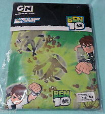BEN 10 CARTOON NETWORK Ready Made Curtains 66' x 54' Inches ZAP - BRAND NEW