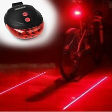 Hot Bicycle Bike Red 2 Laser Beam 5 LED Cycling Rear Tail Warning Lamp Light